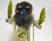 Native American Navajo Made Roadrunner Kachina Doll