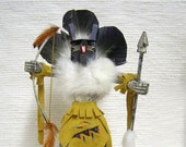 Native American Navajo Made Warrior Mouse Kachina Doll