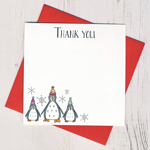 Box Of 12 Penguin Thank You Notecards