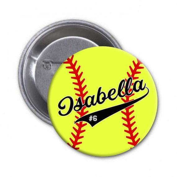 "SOFTBALL MOM Button Pinback Badge 1.5/"" Sports Parent"