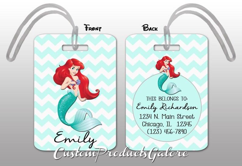 0f7be0af209 Princess Ariel Luggage Tag Disney The Little Mermaid