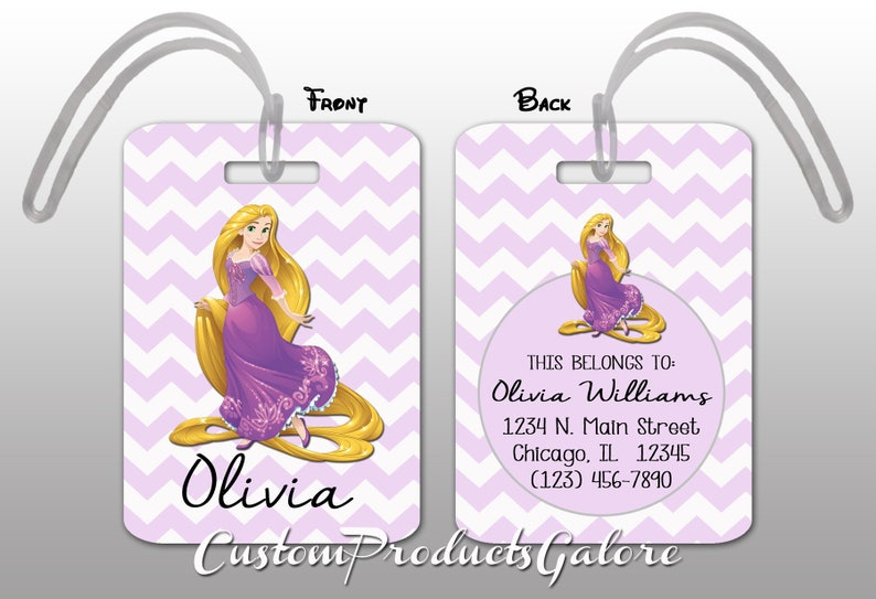 2d3704cbebb Rapunzel Luggage Tag Tangled Personalized Bag Tag Disney