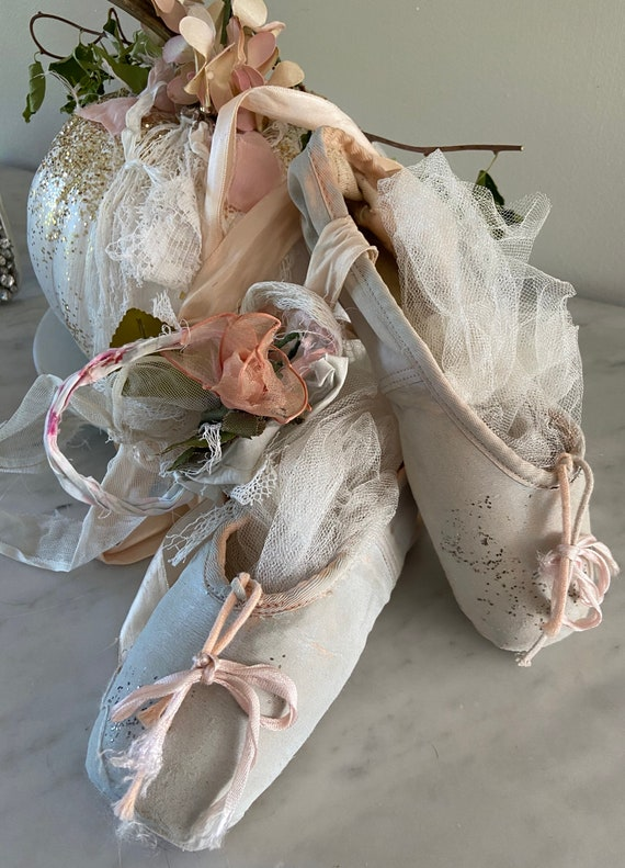 Sweet altered ballet shoes!