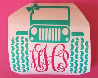 Monogrammed Jeep decal