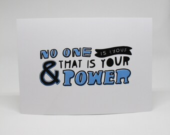 No One is You & That is Your Power