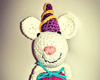 Brian the crocheted Party Mouse
