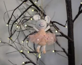 Bernard the crocheted Ballerina Mouse