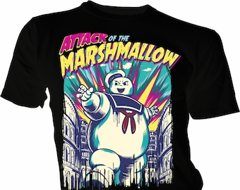 ebdcbc87e Attack of The Marshmallow, Ghostbusters Adult Unisex & Kids T-Shirt