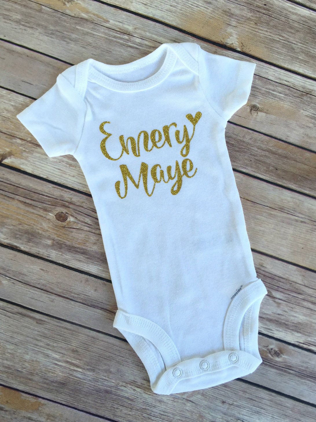Glitter Onesie More Colors Glitter Name Personalized