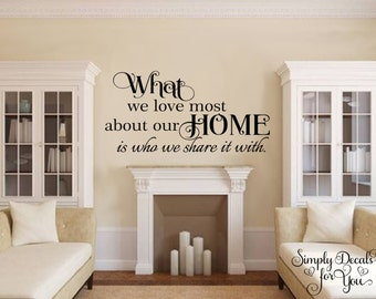 Home wall decal, Home Sticker, Wall Decal, Inspirational Wall Decal, Inspirational Decal, Vinyl Wall Decal, Wall Decor, Wall Sticker, Decal