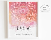 Digital File Instant Download JPEG 8x10 11x14 Priyanka Sangeet Henna Station Sign Printable Sign for Mehndi Night Indian Wedding