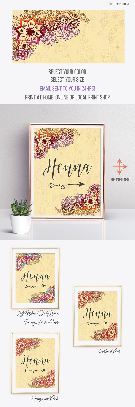 Henna Party Sign Printable Indian Wedding Signs Indian Wedding