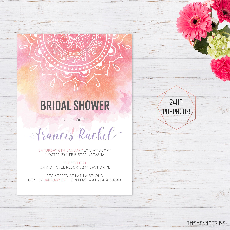 Bridal Shower Invitation Printable Bridal Shower
