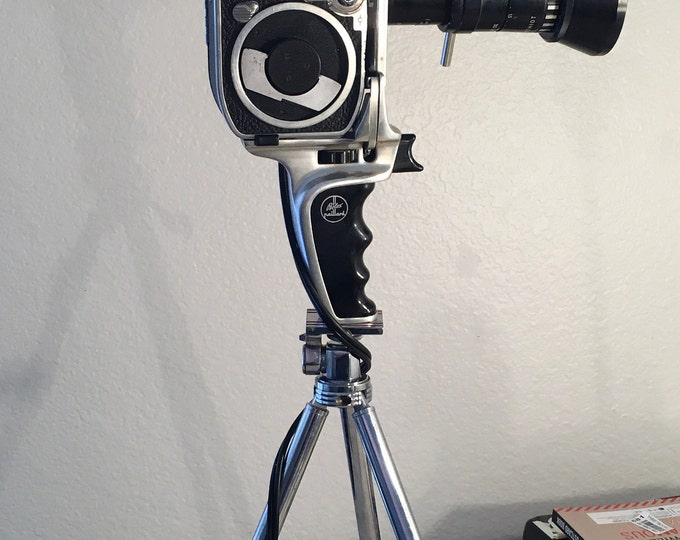 Film  camera lamp. Upcycled lamp. Vintage movie cameras