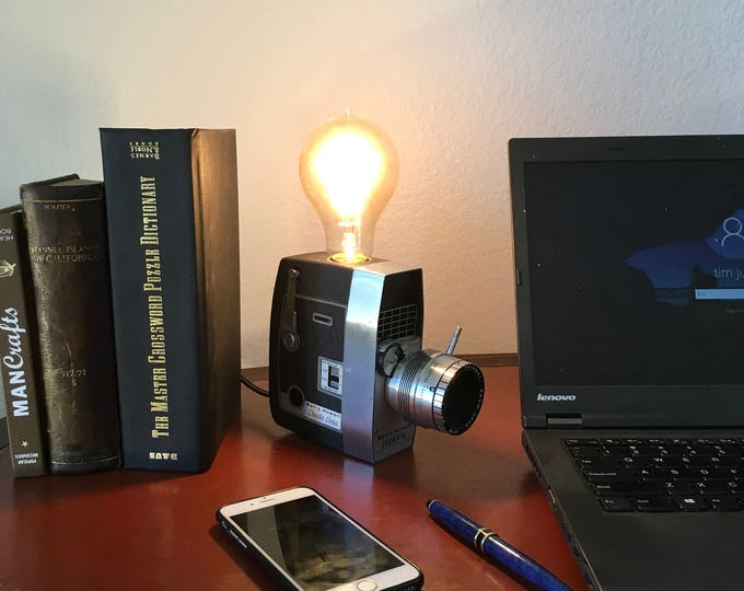 Vintage 8mm Movie Camera Lamp