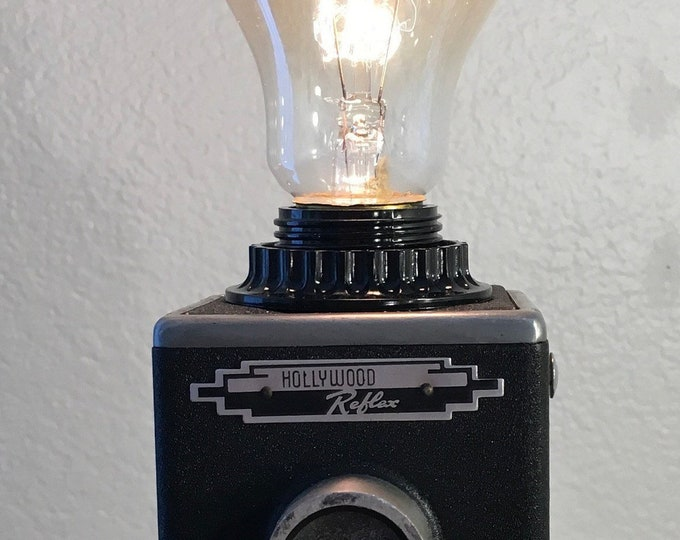 Vintage Twin Lens Reflex Camera Lamp