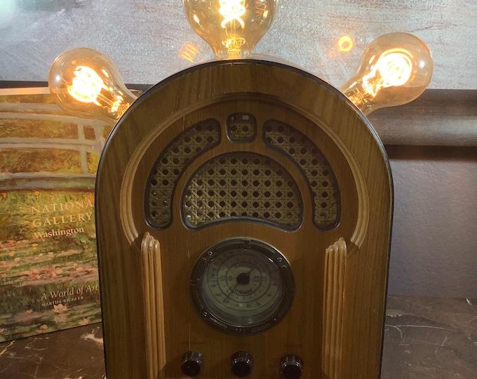 Vintage style radio lamp...Dr Frankensteins Wireless