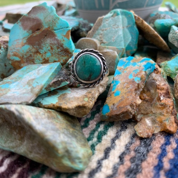 Vintage Turquoise Ring, Vintage Ring, Vintage Jewe