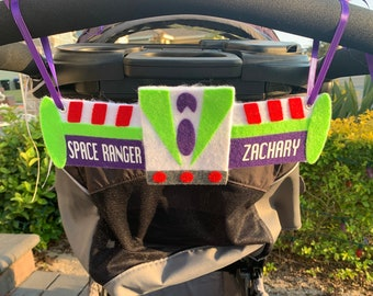 Lightyear Space Ranger Theme Stroller Tag - Stroller Sign - Custom - Personalized - Stroller Name Sign - Disney Theme Stroller Sign