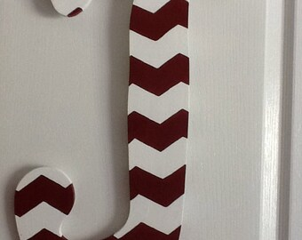 J-Hand Painted Custom Wooden Letter Door Hanger