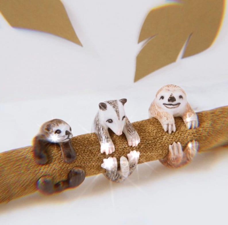 Rat Ring \u2022 Rats are Fun \u2022 Porcelain Ring \u2022 Size 9 \u2022 Collectible Ceramic Jewelry \u2022 Perfect Gift of Thought AP016