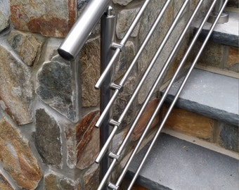 Modern Stairs Balcony Backyard Porch Patio Hand Rail Staircase Railing Kit    Aluminium Top Connected