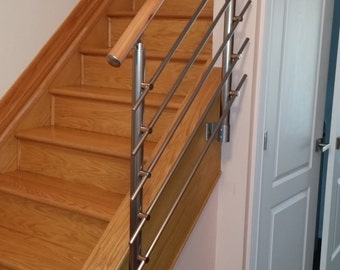Superbe Modern Stairs Balcony Hand Rail Staircase Railing Kit   Aluminium Side  Connected