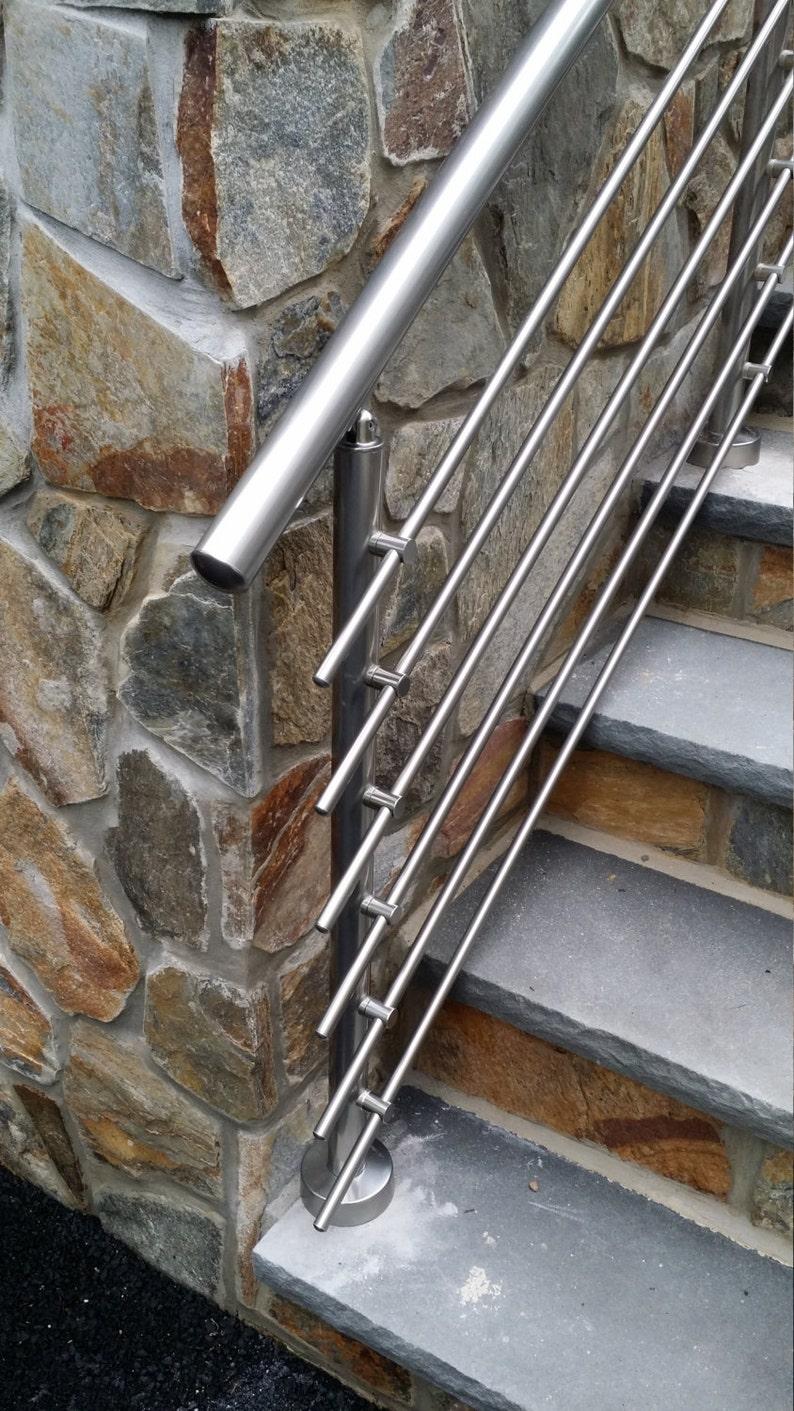 Modern Stairs Balcony Backyard Porch Patio Hand Rail Staircase Railing Kit    Aluminium Top Connected