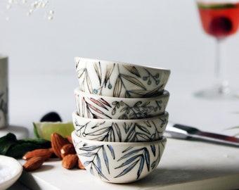 Salt Cellar, Small  Bowls,  Small Pottery Bowls, Tiny Ceramics Bowl, Kitchenware, Finger-Bowl, Jewellery Holder, Dipping Bowls, Sauce Bowls