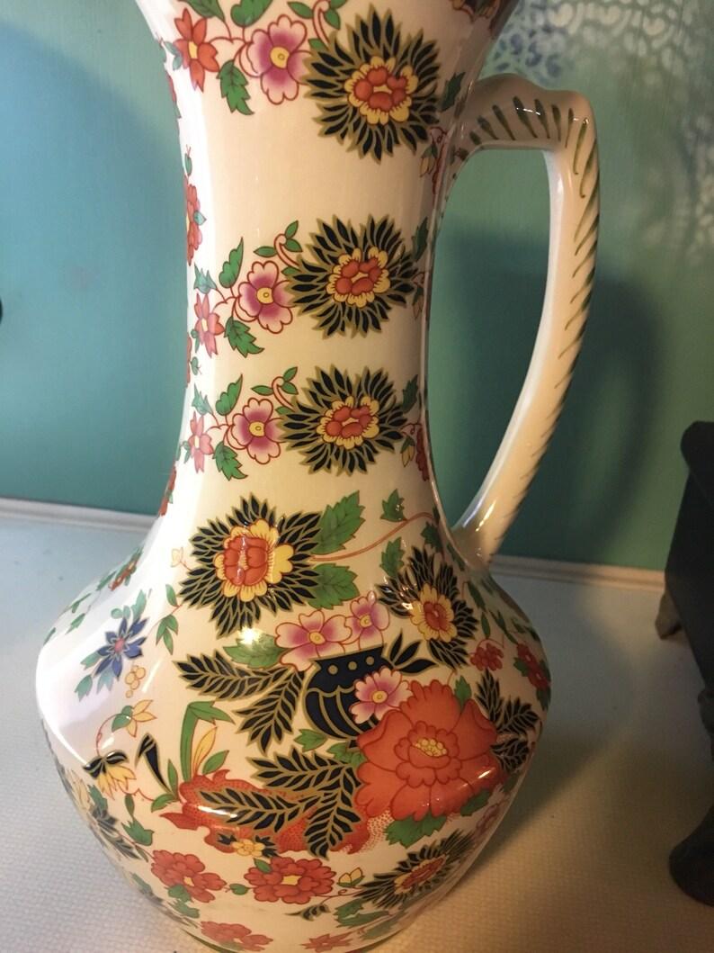 Depose 988 french belgium Fine art ceramic pitcher vase M
