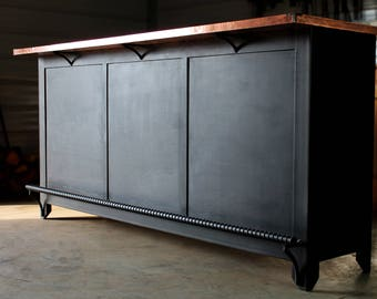 Incroyable Industrial Bar, Wood Bar, Home Bar Furniture, Restaurant Bar, Industrial  Bar Cabinet, Industrial Kitchen Island