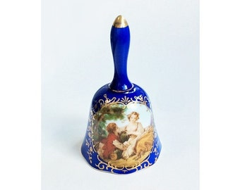 R.S. Prussia Porcelain Bell, Vintage Reproduction
