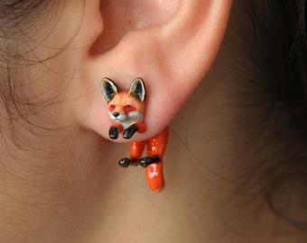Fox Earrings, Hypoallergenic Studs