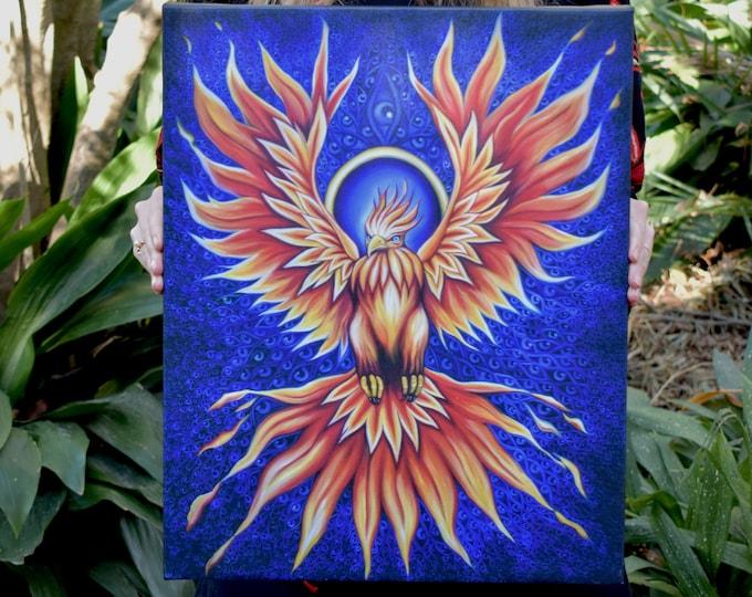The Phoenix Fine Art Print by Rosemary Allen