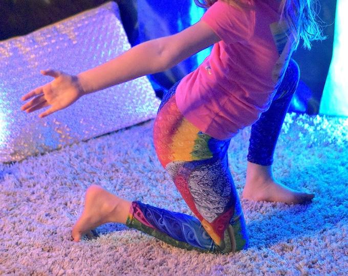 Prismatic Rainbow Peacock Kid's Leggings