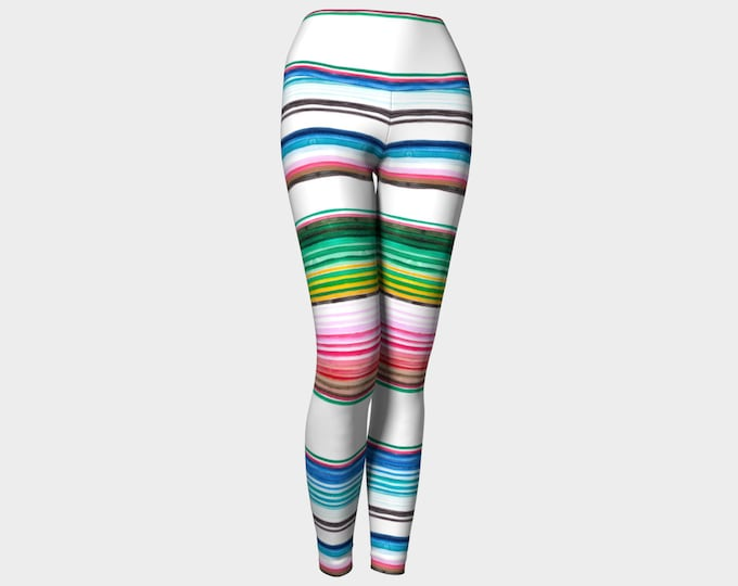 White Serape Leggings