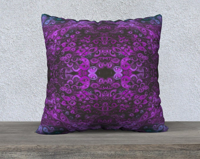 Pink Sea of Eyes Pillow