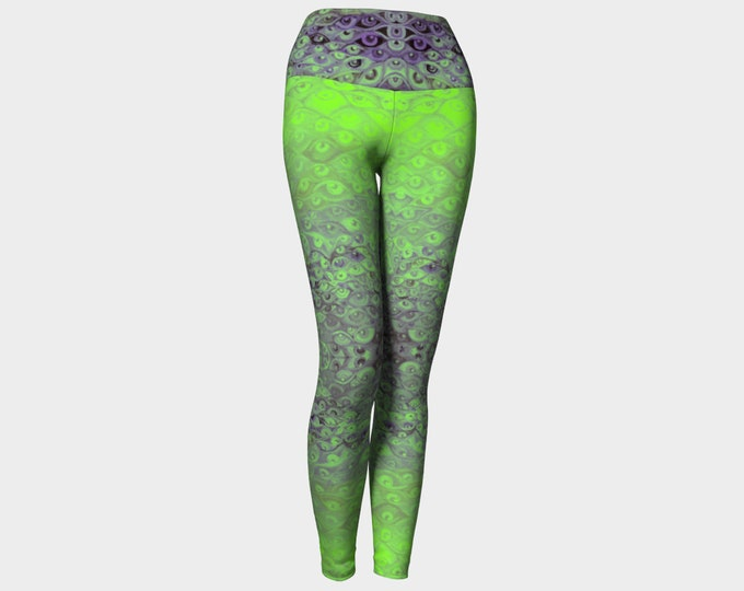 Purple&Green Eye Pants
