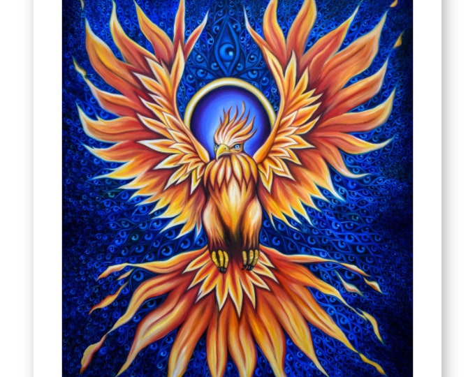 The Phoenix Fine Art Print by Rosemary Allen