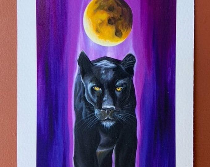 "Spirit Panther by Rosemary Allen - 5""x7"" Fine Art Print"