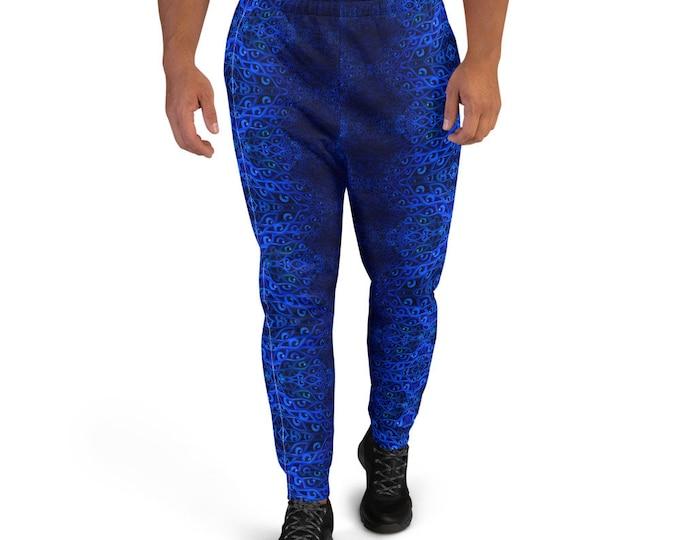 Royal Blue Eye Pattern Men's Joggers