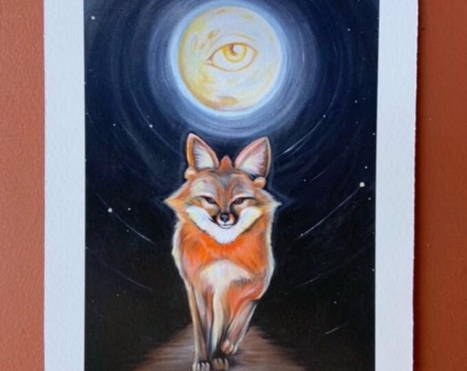 """Foxy by Rosemary Allen - 5""""x7"""" Fine Art Print"""