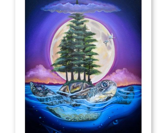 Great Turtle Fine Art Print by Rosemary Allen