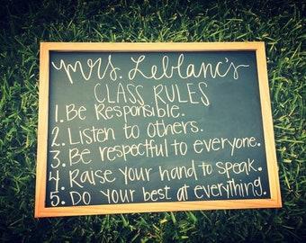Teacher Class Rules Sign