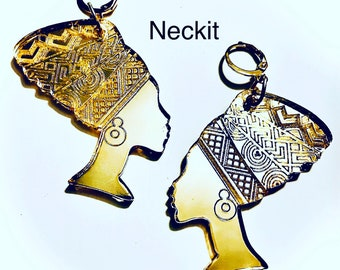 Afrocentric Lady Dangle Earrings