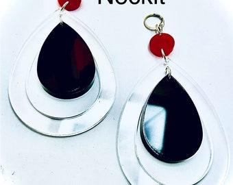 Large Acrylic Teardrop Dangle Earrings