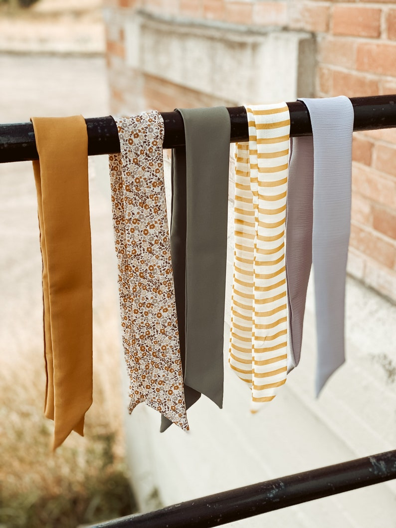 Hair scarf Ponytail wrap image 1