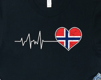 90s Black T Shirt Embroidered Pattern Print Graphic Tee Norway Flag Casual Basic Style Sports Hiking Athletic Blouse Workout Loose Modern