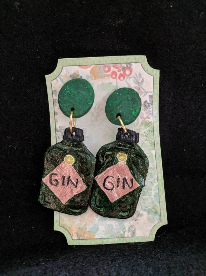 Clip on gin earrings image 0