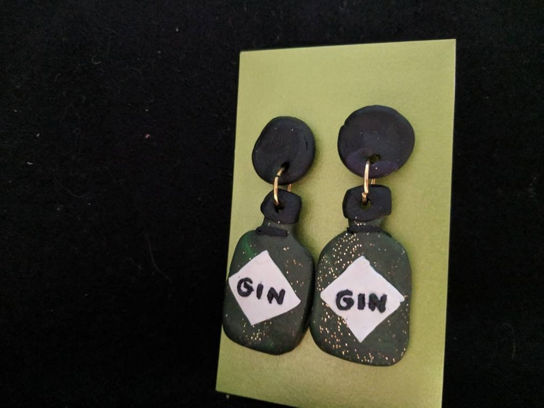 Mid size gin dangle earrings image 0